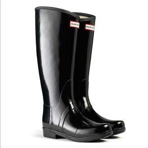 HUNTER Sandhurst Rain Boots Black - US 6
